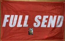 Authentic RED APRIL DROP Full Send Nelk Boys Banner Flag 3 X 5 FT. YouTube OG