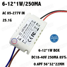 10PCS AC85-277V 10W LED Driver 6-12x1W 250mA DC18-40V Constant Current PowerFree