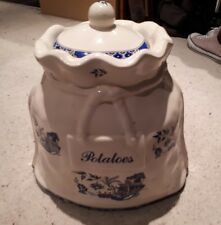 KLM Staffordshire Pottery - Large Ceramic Potato Cellar with Lid - Antique