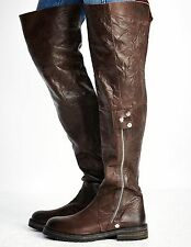 Free People Women's Braxton Tall Leather Over The Knee Boot Retail $298 size 8