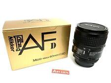 【 MINT in BOX 】 Nikon AF Micro Nikkor 60mm f/2.8 D Macro Lens F Mount from JAPAN