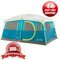 Coleman Fast Pitch Waterproof Outdoor 8 Person Instant Camping Cabin Family Tent