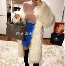 Tibet Sheep Coat Long Outwear Warm  Womens Mongolian Fur Sheep Fur Jacket Parka