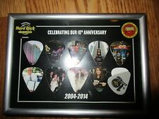 Hard Rock Hotel & casino Tampa Fl 10th Anniversary 10 Guitar picks*