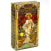 Golden Art Nouveau Tarot Deck [78 Cards]