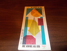 1968 Sinclair Arizona/New Mexico/Nevada/Utah Vintage Road Map