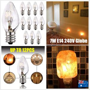 4-12Pcs Himalayan Salt Lamp Globe Bulbs Selenite Light Night Replacement 7W E14