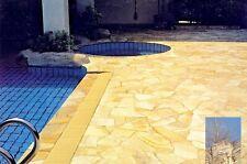 Toscana 8-12 mm Polygonalplatten 55 m² Naturstein Terrassenplatten crema