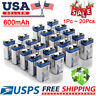 EBL Lot of 600mAh 9V Volt 6F22 Li-ion Rechargeable Batteries High Volume 1-20pcs