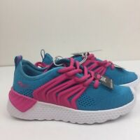 Everlast Girls Sport Sneakers Memory Foam Turquoise/Pink Casual Shoe NWT