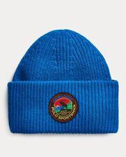 Men's POLO-RALPH LAUREN Royal Blue SPORTSMAN/ MOOSE Cuffed Skull/ Beanie Hat