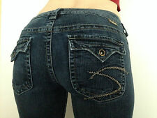 Silver Pioneer Flap Pocket Womens Size 28/35 Jeans Pants ~ USED