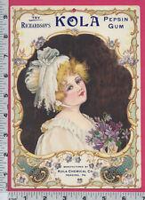 C282 Richardson's Pepsin Gum store sign Kola Chemical Co Reading PA girl violets