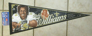 RARE NEW 1990's RICKY WILLIAMS CARICATURE FULL SIZE PENNANT NEW ORLEANS SAINTS