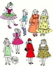 "Teen Classic 9 1/2"" barbie Sister Doll Pattern Rare"