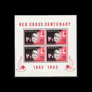 Nigeria, Sc #149a, MNH, 1963, S/S, Red Cross, Medical, FADD-A