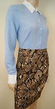 Altuzarra para Target a Rayas Blusa Lápiz Falda vestido estampado de pitón BNWT UK10