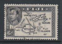 Fiji - 1944, 6d Violet-Black stamp - Perf 13 1/2 - Die II - F/U - SG 261a