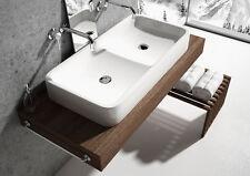 Neu Design Doppel Aufsatz Waschbecken Keramik - REPRESENT 80 cm