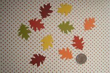 50 OAK LEAF LEAVES IN 5 FALL COLORS DIE CUTS PUNCHES CONFETTI PARTY