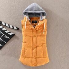 Single Breasted Closure Types Ladies Vest Solid Pattern Outdoors Winter Clothing
