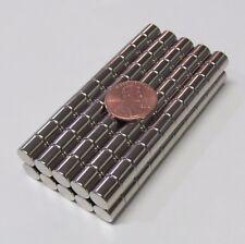 100 Pcs 516x516 N52 Cylinder Magnet 8x8mm Rare Earth Neodymium 65 Lbs 3kg