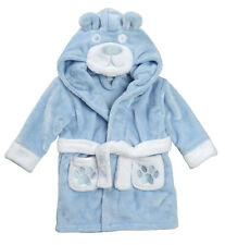 Embroidered Personalised Soft Baby Dressing Gown Bath Robe Teddy design babys