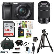 Sony Alpha a6300 Digital Camera w/ 16-50mm & 55-210mm Lens  Corel Imaging Bundle