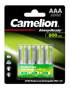 Camelion Akku 800mAh 1,2V AAA Micro für zB. Solar Gartenleuchte Telefon Spiel