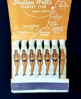 1950s Indian Wells Golf Country Club Vintage Matchbook with Bikini Indian Girls