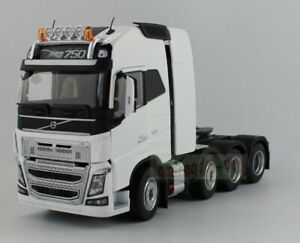 1/32 MARGE MODELS VOLVO FH 16 8x4 Heavy Duty Truck Tractor 750 Diecast White