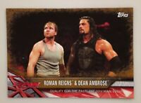 Roman Reigns & Dean Ambrose 2017 Topps Road to Wrestlemania Bronze Parallel #18