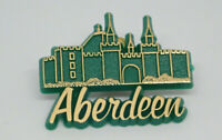 Aberdeen Castle Gold Tone green Vintage Lapel Pin