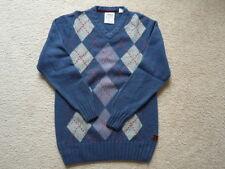 Men's Timberland Crewneck 100% Wool Argyle Sweater Size M