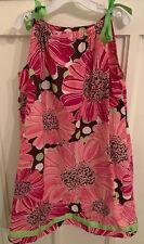 Hanna Andersson Girls Size 10 Pink Floral Dress Pillow Case Dress VGC Size 140