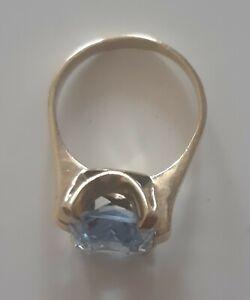 Ring Gold 333 mit Aquamarin