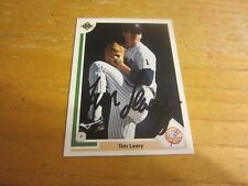 Tim Leary Autographed Signed 1991 Upper Deck #693 Card MLB New York Yankees