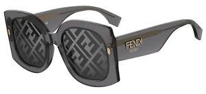 FENDI ROMA FF 0436/G/S Grey/Grey Mirrored (KB7/MD) Sunglasses