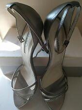 BNIB Charles David Pewter Strappy Women Sandal Heels- size 42