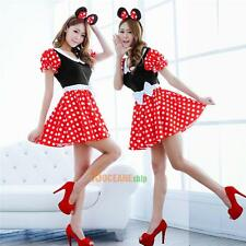 Sexy Christmas Mouse Women Xmas Costume Cosplay Dress Up Outfit Ear Clothe