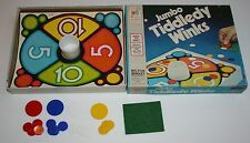 Vintage 1974 Milton Bradley Jumbo Tiddledy Winks Game - Complete white glass cup