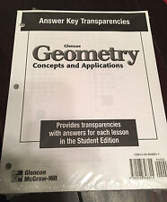 Geometry: Concepts and Applications, Answer Key Transparencies 2000 NEW