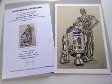 """Litografía EDICIÓN ESPECIAL R2D2 & C3PO  """"STAR WARS"""". Autor: M. Alfaro"""