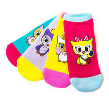 tokidoki Ankle Socks Neon Star Set of 4 Fancy Claire Yellow Pink Purple Blue NWT