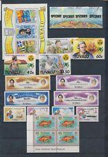 XC08336 Tuvalu mixed thematics fine lot MNH