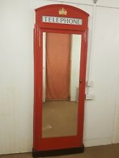 RED TELEPHONE BOX BOOTH KIOSK K6  FULL LENGTH WALL MIRROR DOOR