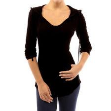 ZANZEA 8-24 Women Hooded Tee T Shirt Blouse Hoodie Slim Fit Plus Size Tunic Top