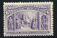 US Stamps # 235 6c Columbian VF NH