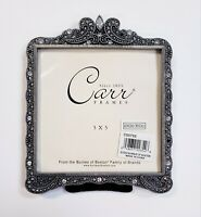 """Carr Top Arch Marcasite Photo Frame Holds 5x5"""" Picture Metal Burnes Of Boston"""