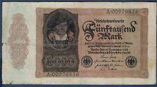 BILLET D'ALLEMAGNE - 5000 MARK Pick n° 78 du 2 NOVEMBRE 1922 en TB A.00976836